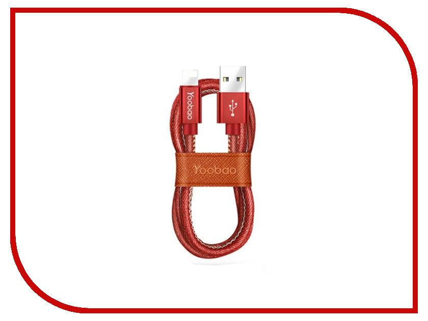 Аксессуар Yoobao Jean USB - Lightning YB-427 Red аккумулятор yoobao power bank yb 655 11000mah white