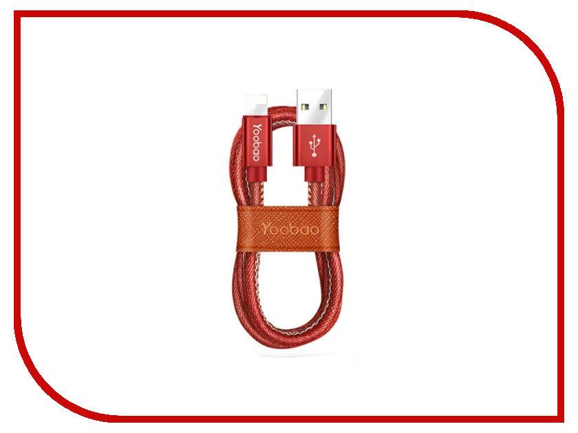 Аксессуар Yoobao Jean USB - Lightning YB-427 Red аксессуар yoobao usb type c microusb lightning yb 453 gold