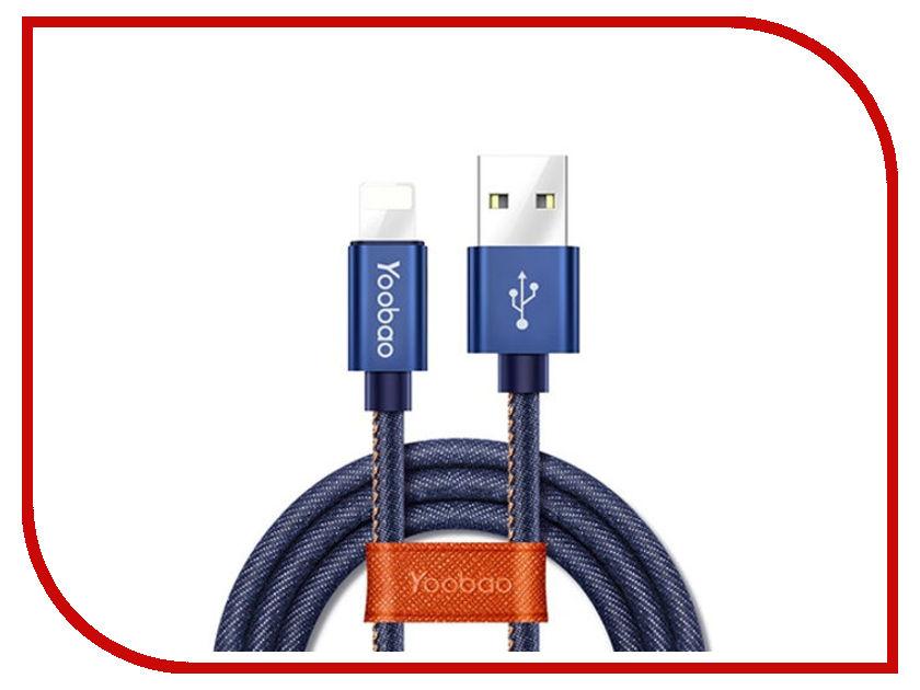 Аксессуар Yoobao Jean USB - Lightning YB-427 Blue аксессуар yoobao usb type c microusb lightning yb 453 gold