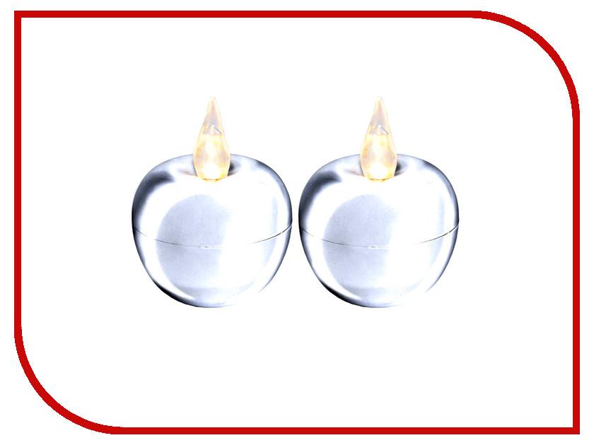 Светодиодная свеча Star Trading LED Яблоко мини 2шт Silver 067-08