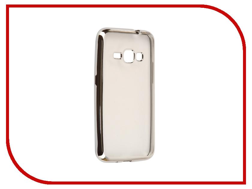 Аксессуар Чехол Samsung Galaxy J1 2016 J120F Svekla Flash Silicone Silver Frame SVF-SGJ120F-SIL samsung galaxy j1 2016 sm j120f black