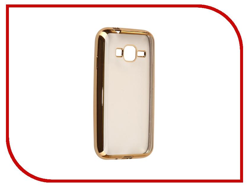 Аксессуар Чехол Samsung Galaxy J1 mini 2016 J105F Svekla Flash Silicone Gold Frame SVF-SGJ105F-GOLD аксессуар чехол накладка samusng galaxy j1 mini caseguru liquid 87803