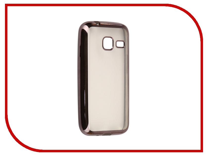 Аксессуар Чехол Samsung Galaxy J1 mini 2016 J105F Svekla Flash Silicone Black Frame SVF-SGJ105F-BL аксессуар чехол samsung galaxy j1 2016 armor air slim black gb f sgj1 2016 bl