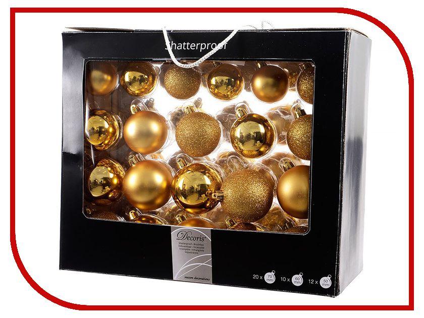 Украшение Kaemingk Набор шаров Праздничный стиль 42шт Gold 020720 праздничный атрибут diy