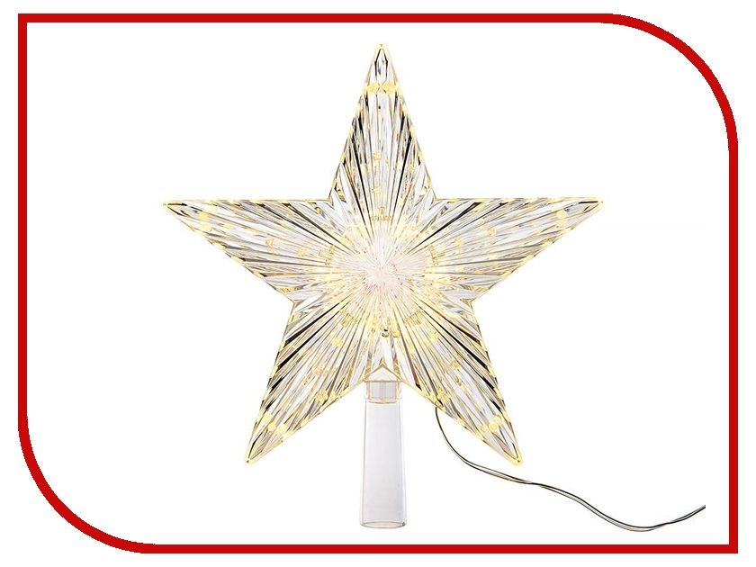 Украшение Kaemingk Верхушка ёлочная Звезда 22cm 480975 ёлочная игрушка ёлочка scotton ёлочная игрушка ёлочка