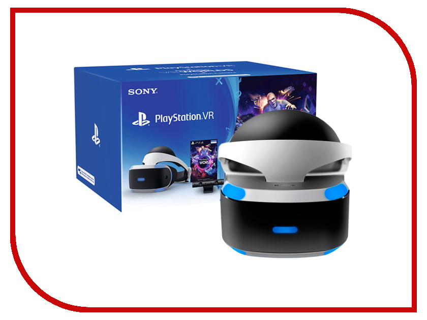 Шлем виртуальной реальности Sony PlayStation VR CUH-ZVR1 + Камера v2 + VR Worlds для PlayStation 4 vr 360 wifi ip camera 720p 1 0mp 180 degree fisheye mini vr panoramic camera home security video surveillance
