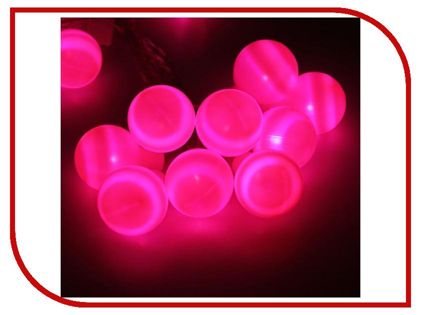 Гирлянда Luazon Метраж Большие шарики 6m LED-20-220V Pink 186618 гирлянда luazon метраж свечка 5m led 20 220v multicolor 2388694