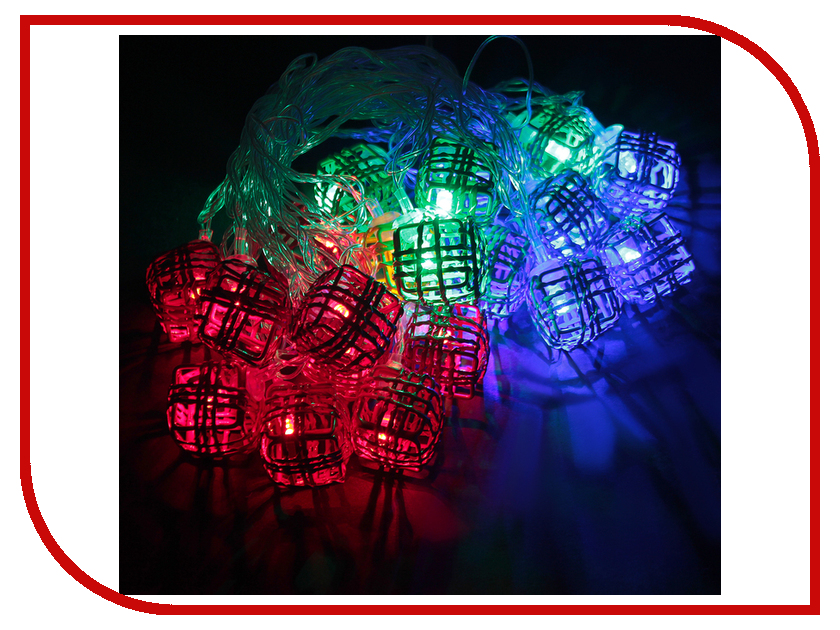 Гирлянда Luazon Метраж Кубик Проволока 5m LED-20-220V Multicolor 2388667 гирлянда luazon метраж фонарик сетка 5m led 20 220v multicolor 2388682