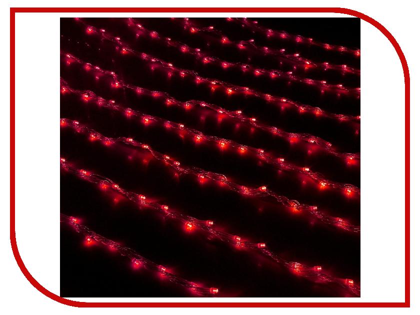 Гирлянда Luazon Дождь 1.5x1m LED-300-220V Red 671634 гирлянда luazon метраж свечка 5m led 20 220v multicolor 2388694