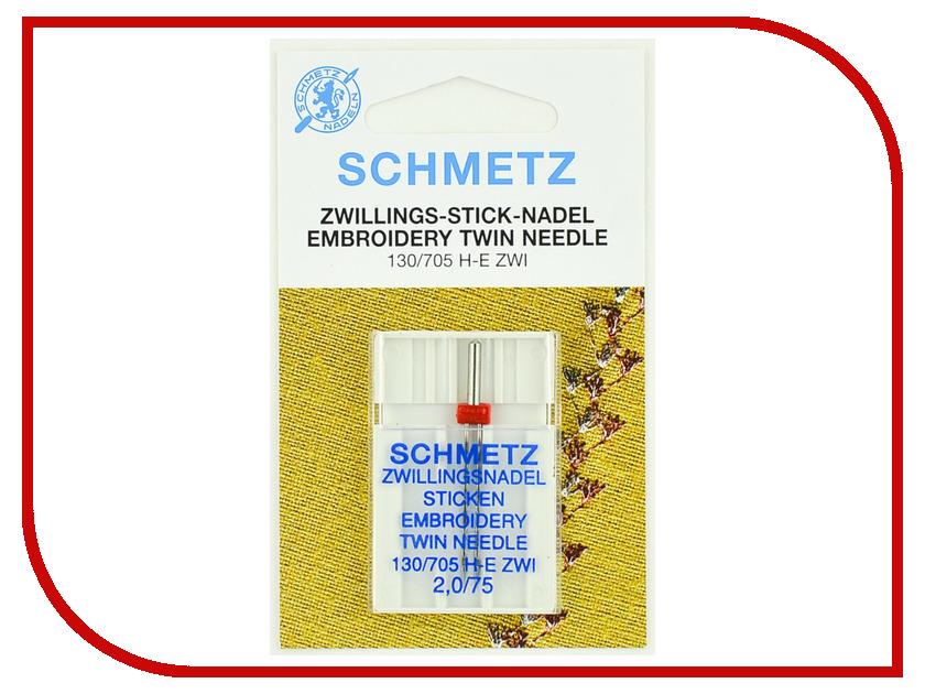 Двойная игла для вышивки Schmetz №75/2 130/705H-E ZWI 1шт