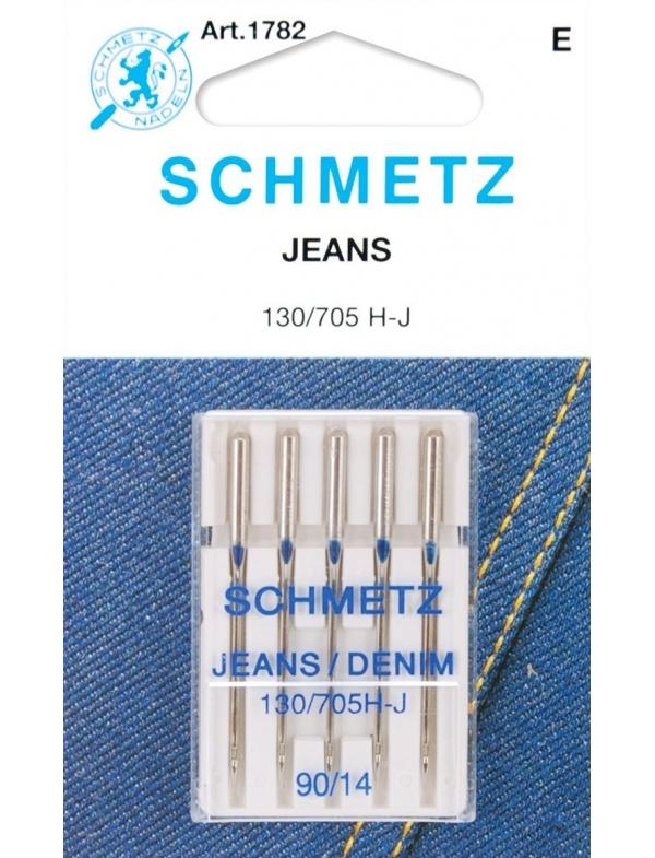 Набор игл для джинсы Schmetz №90 130/705H-J 5шт