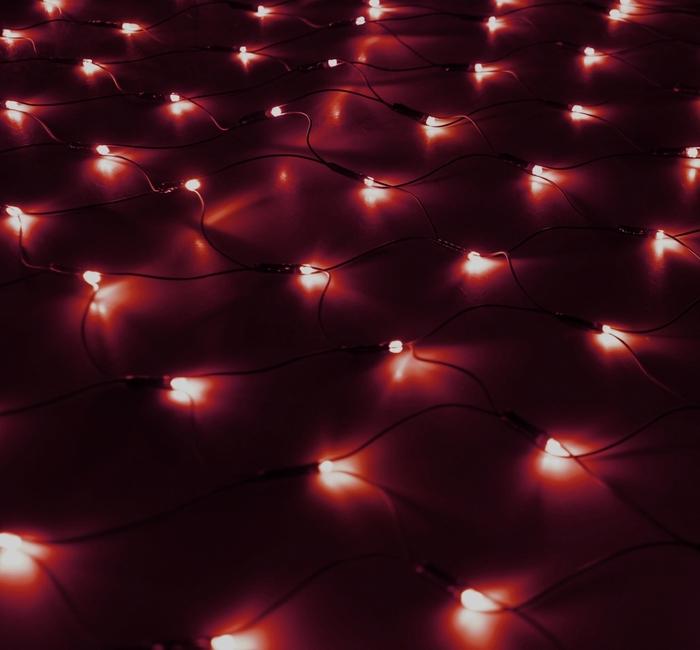 Гирлянда Luazon Сетка 1.2x1.1m LED-144-220V Red 187220