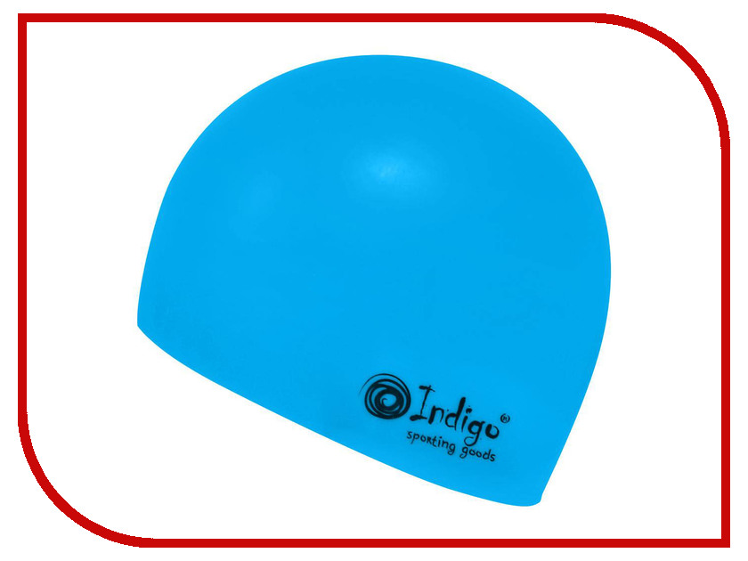 Шапочка Indigo Silicone 808 SC Для длинных волос Light Blue