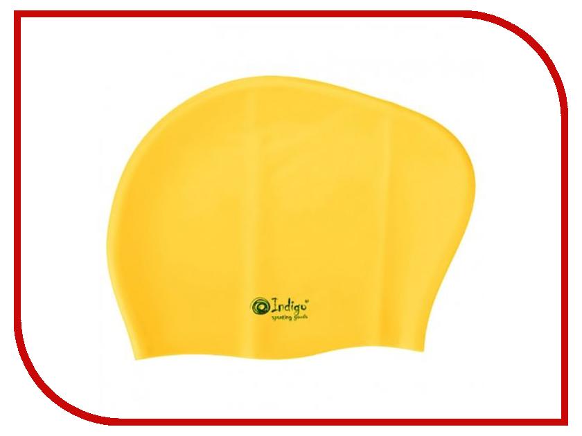Шапочка Indigo Silicone 806 SC Для длинных волос Yellow детское лего decool 801 806 6pcs 801 806