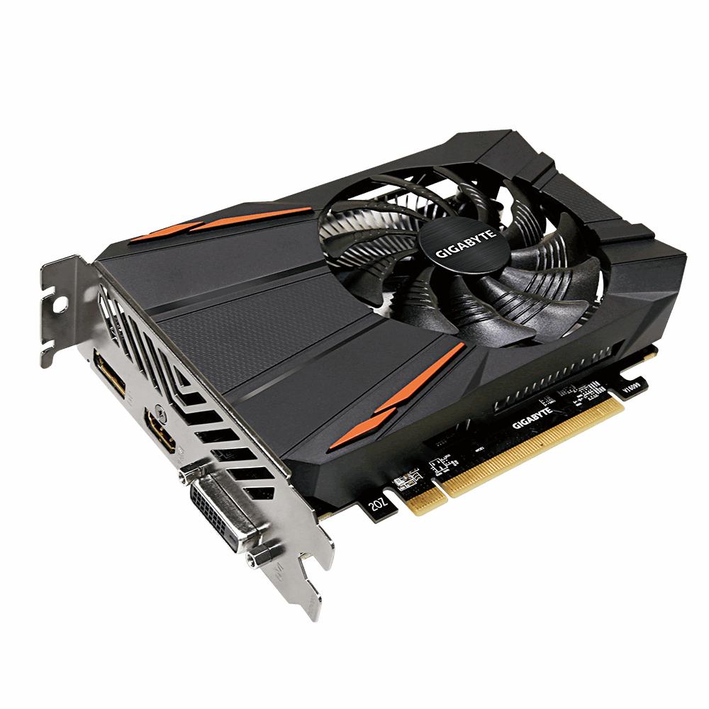 Видеокарта GigaByte Radeon RX 560 OC 4G 1189Mhz PCI-E 3.0 4096Mb 7000Mhz 128 bit DVI HDMI GV-RX560OC-4GD цена 2017