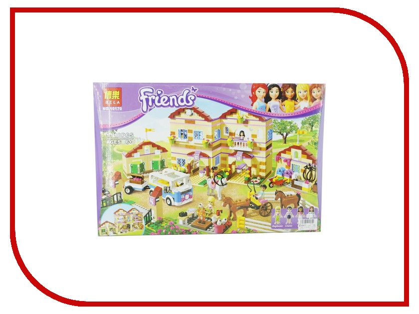 Конструктор Bela Friends 10170 Школа верховой езды bela 10497 building bricks friends series adventure camp tree house 41122 emma mia figure educational toys for children gifts