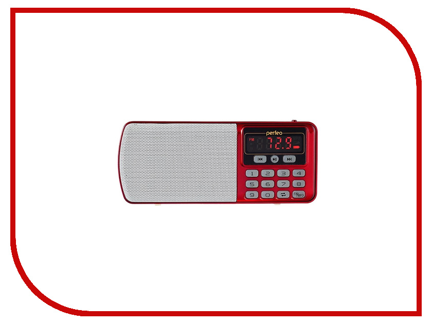 Радиоприемник Perfeo Егерь FM+ i120 Red perfeo fitness red black f fns red blk