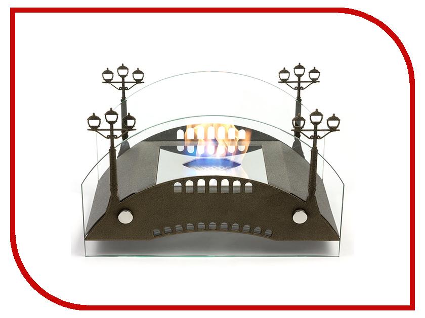 Биокамин Lux Fire Пушкинский мост M Bronze КН-0017М-03 Бр биокамин напольный классика в москве недорого