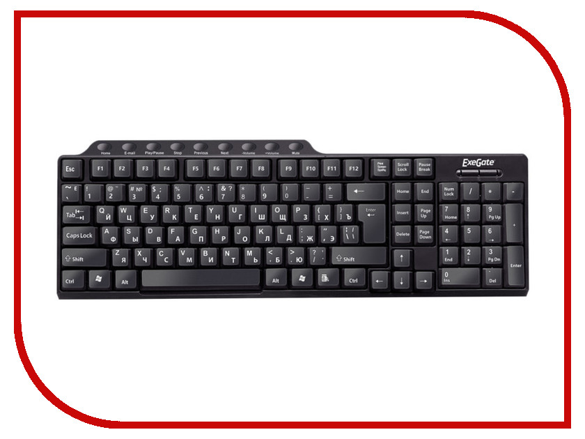 Клавиатура ExeGate LY-501M Black USB