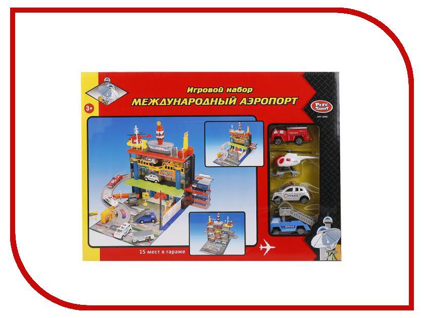 Автотрек Play Smart Международный аэропорт C326-H06015 play smart металлич инерц машина автопарк play smart м1 50 box 12x5 7x6 8 см арт 6402b а74784