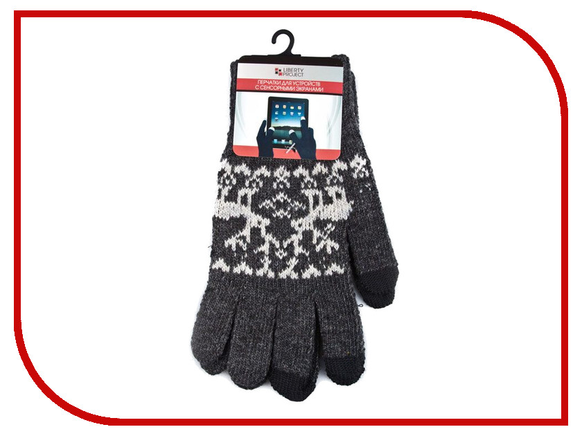 Теплые перчатки для сенсорных дисплеев Liberty Project Олени L Grey R0000502