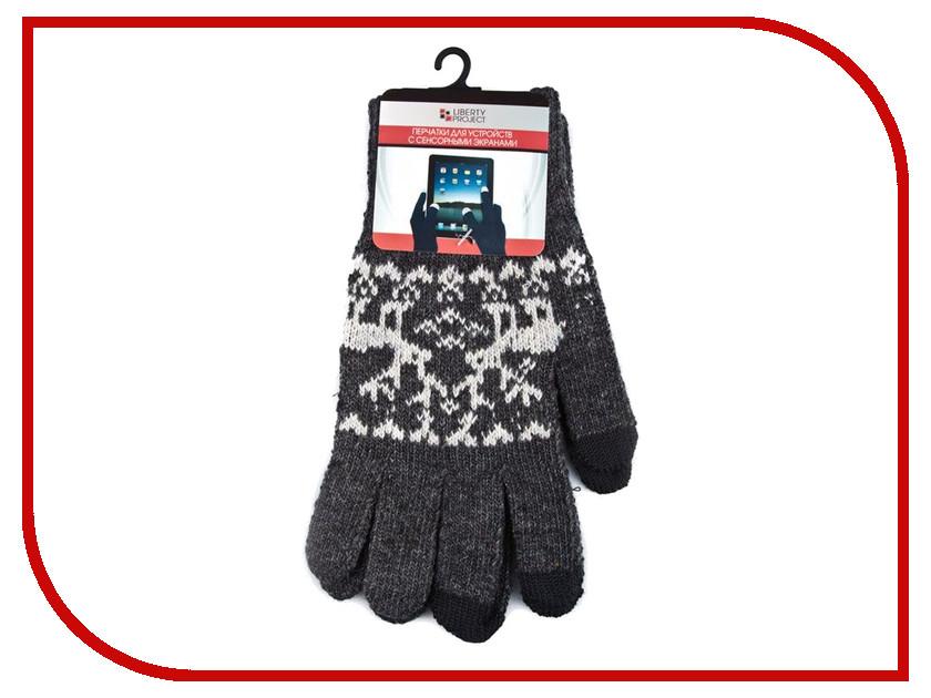 Теплые перчатки для сенсорных дисплеев Liberty Project Олени S Grey R0000500 теплые перчатки для сенсорных дисплеев igloves f2 black