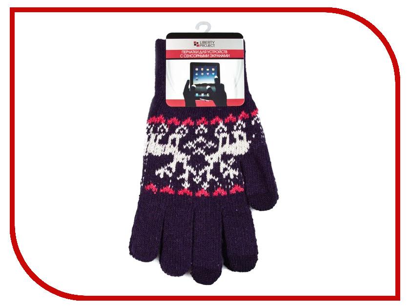 Теплые перчатки для сенсорных дисплеев Liberty Project Олени L Violet R0000505 теплые перчатки для сенсорных дисплеев red line р m l black white finger ут000014056