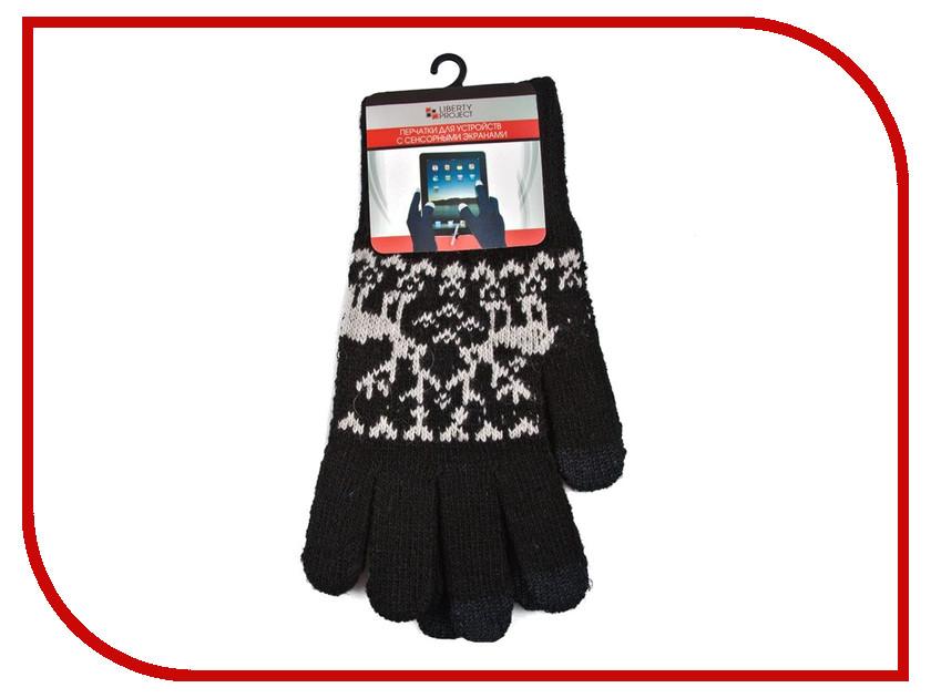 Теплые перчатки для сенсорных дисплеев Liberty Project Олени S Black R0000497 теплые перчатки для сенсорных дисплеев cbr human friends fiver fd383 р uni black