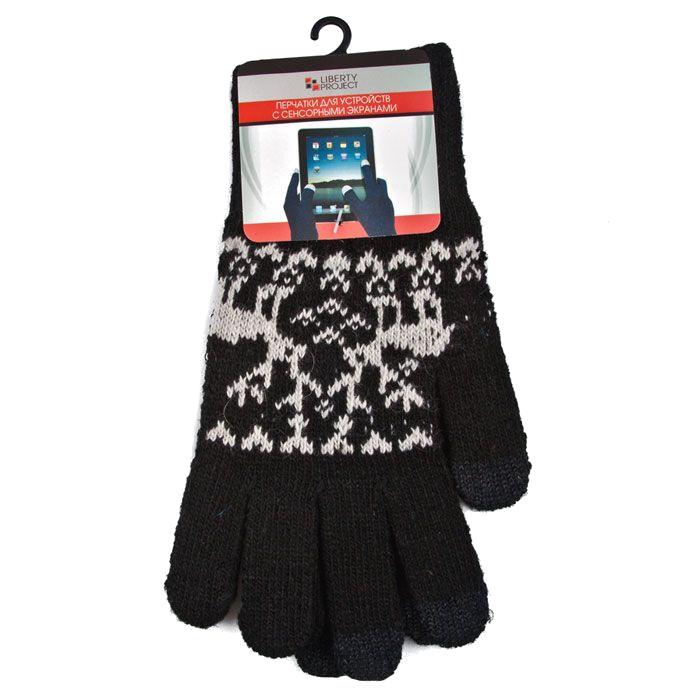 Теплые перчатки для сенсорных дисплеев Liberty Project Олени S Black R0000497