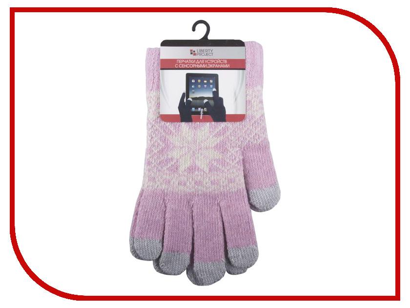 Теплые перчатки для сенсорных дисплеев Liberty Project Снежинка S Pink 0L-00000028 перчатки для сенсорных дисплеев liberty олени серые размер s