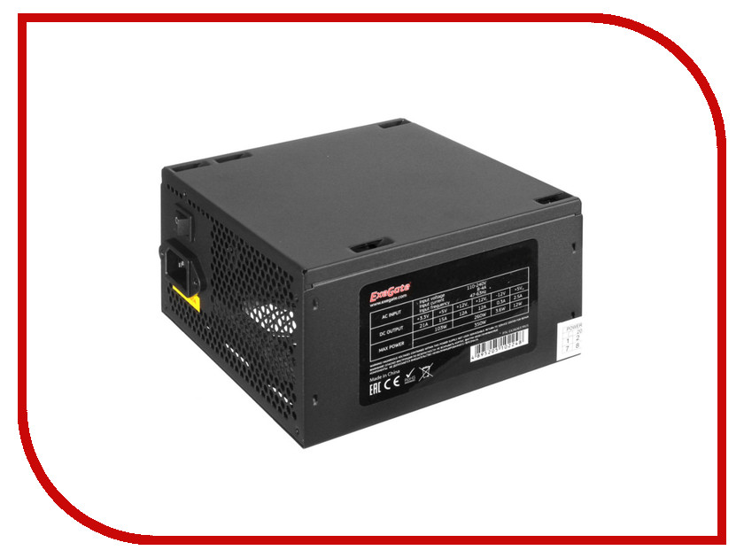 Блок питания ExeGate ATX-450PPE 450W Black блок питания lenovo thinkserver 450w gold hs redundant power supply for tower 67y2625