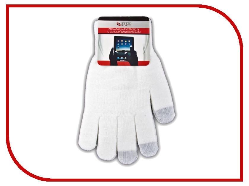 Теплые перчатки для сенсорных дисплеев Liberty Project S White R0000495 перчатки для сенсорных дисплеев liberty олени серые размер s