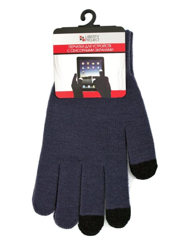 Теплые перчатки для сенсорных дисплеев Liberty Project M Dark Grey CD125828