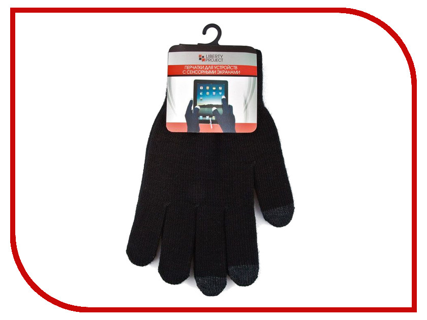 Теплые перчатки для сенсорных дисплеев Liberty Project M Black CD125826 теплые перчатки для сенсорных дисплеев cbr human friends fiver fd383 р uni black