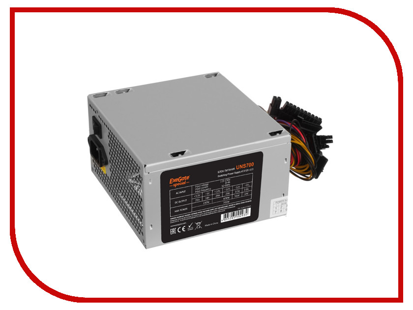 Блок питания ExeGate Special ATX-UNS700 700W блок питания atx 700 вт exegate 700npx