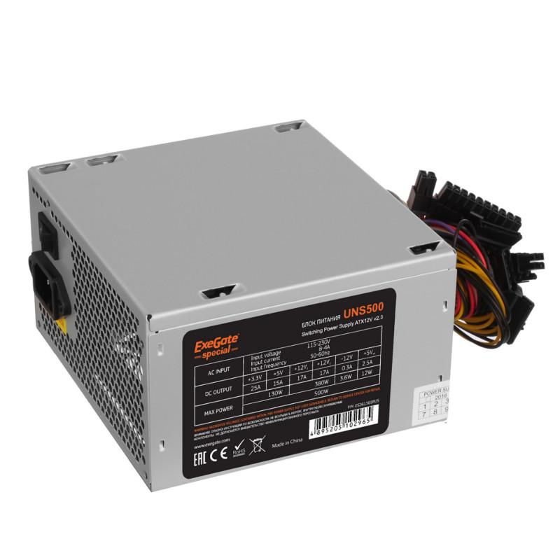 Блок питания ExeGate Special ATX-UNS500 500W