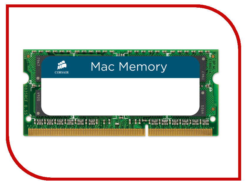 Модуль памяти Corsair Mac Memory DDR3 SO-DIMM 1066MHz PC3-8500 CL7 - 4Gb CMSA4GX3M1A1066C7 corsair xms3 cmx4gx3m1a1600c9 memory bank