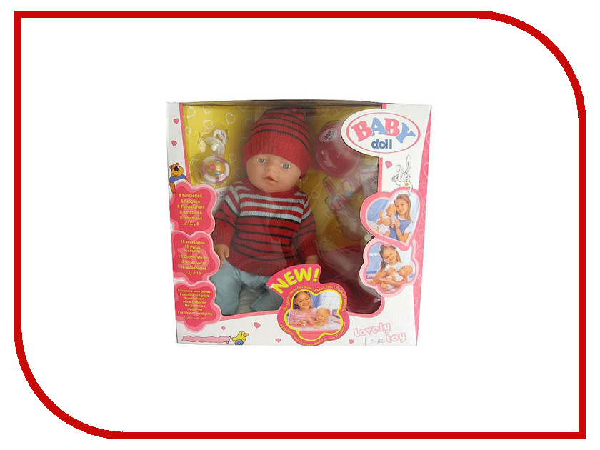 Кукла Baby Doll с аксессуарами B645836 кукла baby the club my sister с аксессуарами t10755