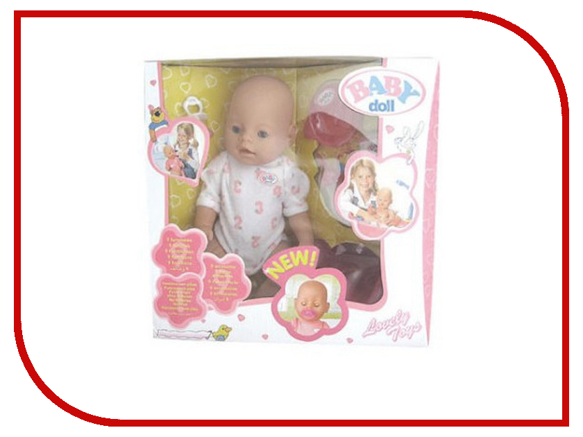 Кукла Baby Doll с аксессуарами B689653 npkcollection 55cm full silicone body reborn baby doll toy realistic newborn boy babies doll lifelike birt hday gift for girls