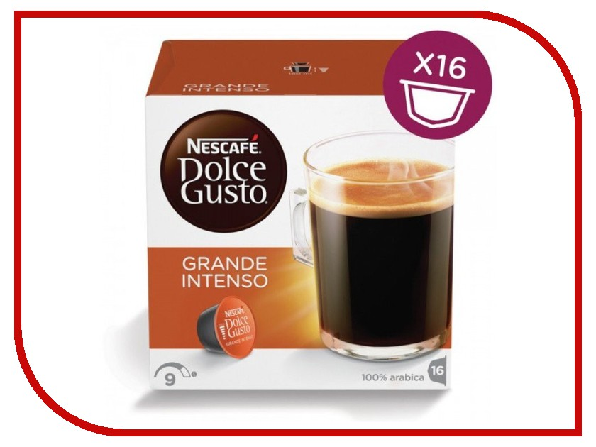 Капсулы Nescafe Dolce Gusto Grande Intenso 16шт 12128828 капсулы для кофемашин krups nescafe dolce gusto grande intenso
