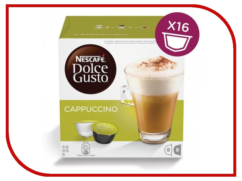 Капсулы Nescafe Dolce Gusto Cappuccino 16шт 12355121 nescafe gold 100