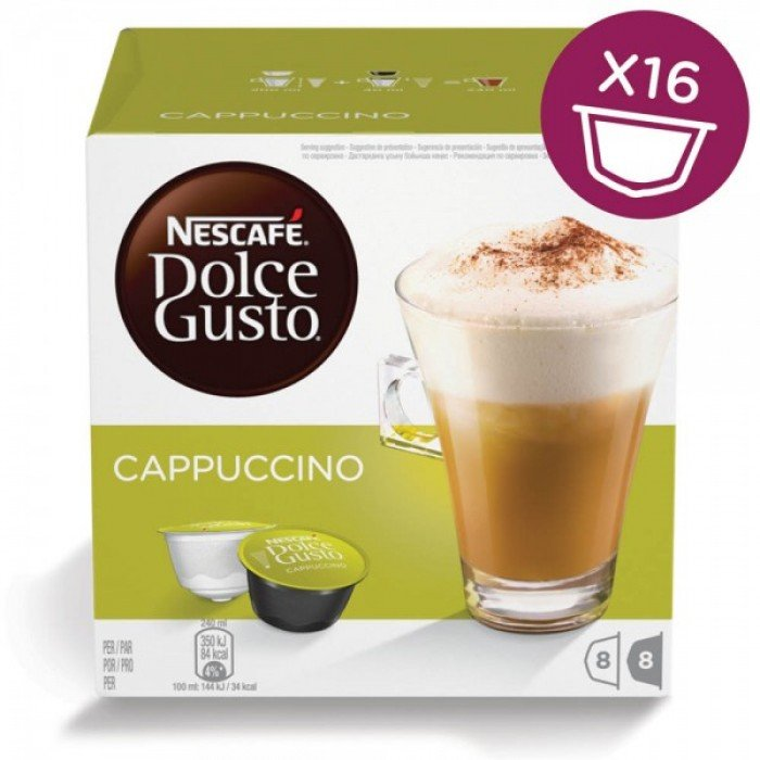 Капсулы Nescafe Dolce Gusto Cappuccino 16шт 12355121