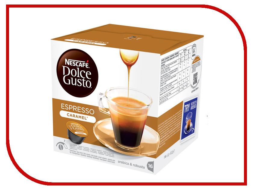 Капсулы Nescafe Dolce Gusto Espresso Caramel 16шт 12128780 nescafe кофе nescafe gold растворимый 150г
