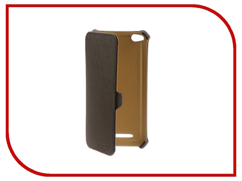 Аксессуар Чехол Xiaomi Redmi 4A Snoogy иск. кожа Black SN-Xiab-4A-BLK-LTH аксессуар чехол snoogy иск кожа black для apple iphone 6 6s sn iph 6 6s blk lth