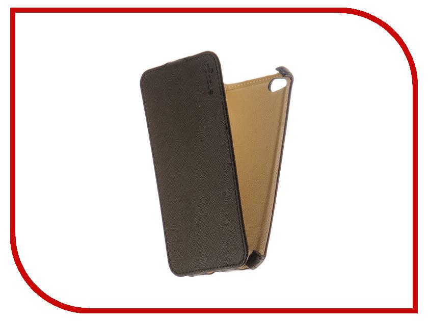 Аксессуар Чехол Xiaomi Redmi 4A Snoogy иск. кожа Black SN-Xia-4A-BLK-LTH
