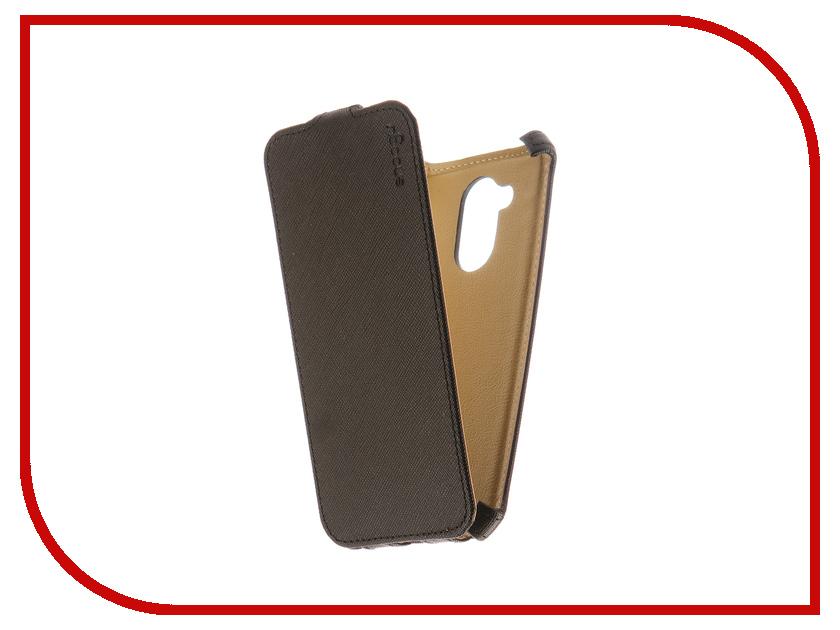 Аксессуар Чехол Huawei Honor 6A Snoogy иск. кожа Black SN-HH-6A-BLK-LTH аксессуар чехол snoogy иск кожа black для apple iphone 6 6s sn iph 6 6s blk lth