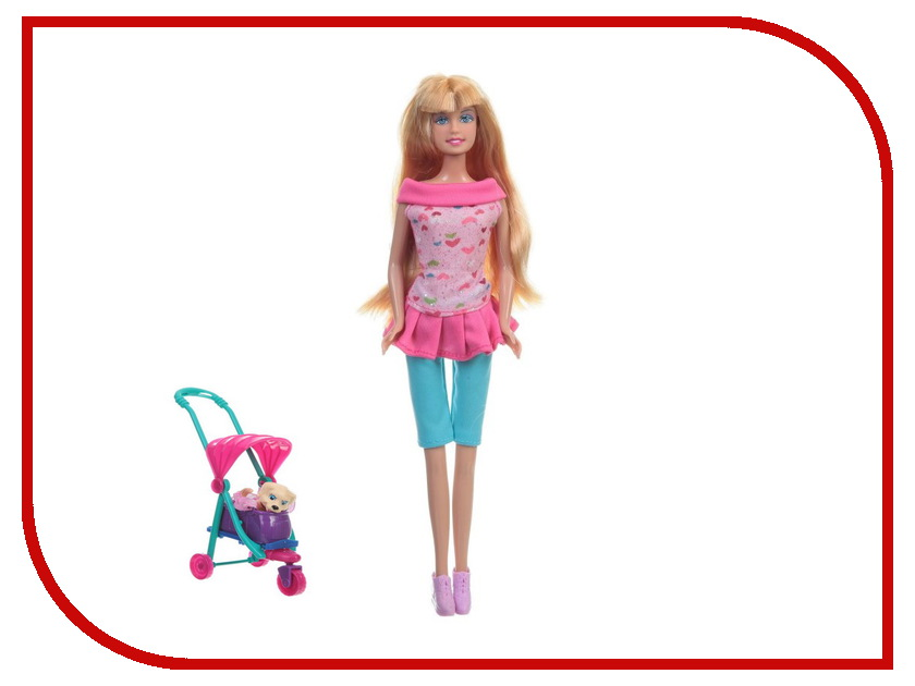 Кукла Defa Lucy с коляской и собачкой 8205 кукла defa lucy модная green