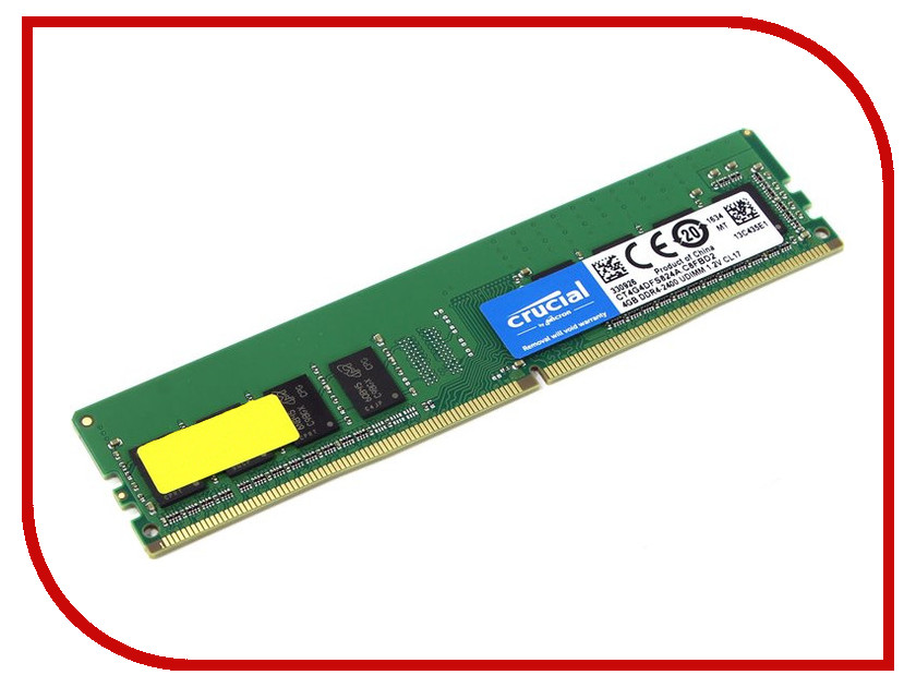 Модуль памяти Crucial DDR4 RDIMM 2400MHz PC4-19200 ECC CL17 - 4Gb CT4G4RFS824A модуль памяти patriot memory ddr4 so dimm 2400mhz pc4 19200 cl17 4gb psd44g240041s