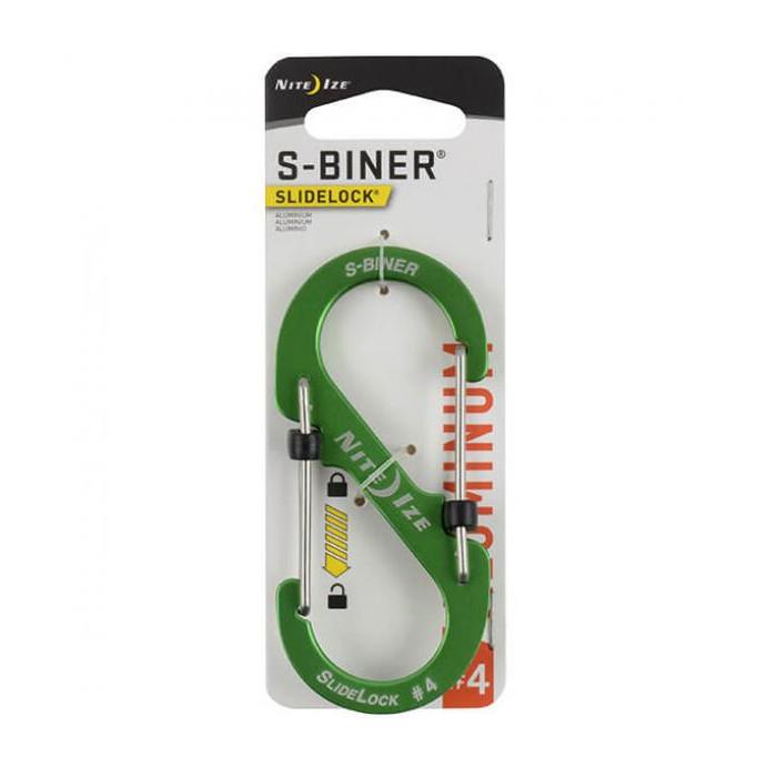 Карабин Nite Ize S-Biner SlideLock LSBA4-17-R6 Lime