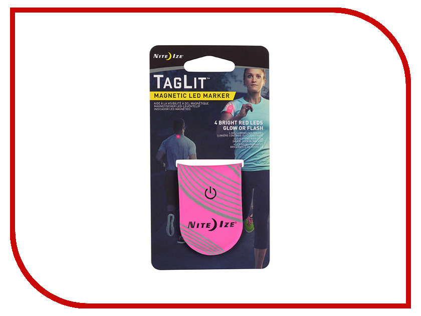 Светоотражатель Nite Ize TagLit Magnetic LED Marker TGL-35-R3 Pink s biner taglock plsbm 01 r3